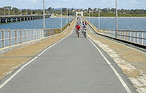 Brighton, Queensland - Hornibrook Bridge towards Brighton, 2007