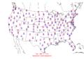 2006-01-12 Max-min Temperature Map NOAA.png