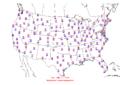2006-01-15 Max-min Temperature Map NOAA.png