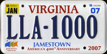 2006 Virginia License Plate