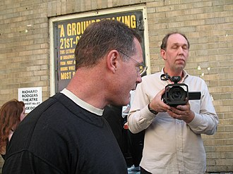 Jason Beghe - Beghe at a May 29, 2008, protest against Scientology in New York City.