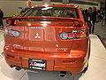 2009 orange Mitsubishi Lancer Ralliart sedan rear.JPG