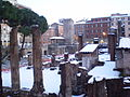 2012-02-04 Snow on Torre Argentina in Rome.JPG