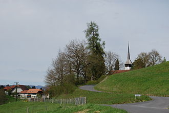 Ferenbalm - Ferenbalm village and church