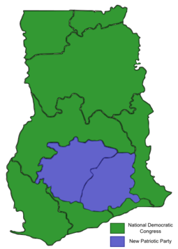 2012 Ghanaian General Election Map.png
