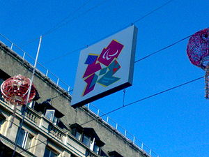 Paralympic symbols - Picture of the emblem for the 2012 Summer Paralympics in London.