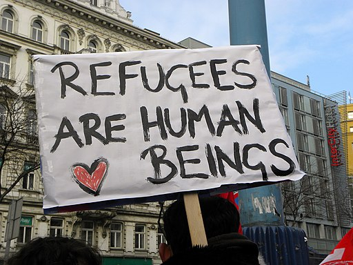 2013-02-16 - Wien - Demo Gleiche Rechte für alle (Refugee-Solidaritätsdemo) - Refugees are human beings