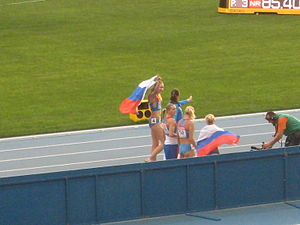 2013 World Championships in Athletics – Women's 4 × 400 metres relay - Gold medalists