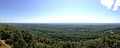 2014-08-25 11 28 13 Panorama east and south from Catfish Fire Tower along the Appalachian Trail in Delaware Water Gap National Recreation Area, New Jersey.JPG