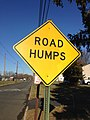 2014-12-27 10 02 58 Road Humps sign along Glen Mawr Drive in Ewing, New Jersey.JPG