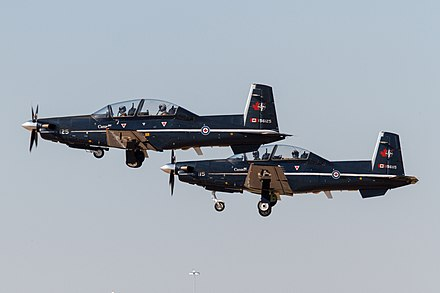 Two RCAF CT 156 Harvard II At The Alliance Air Show In 2014