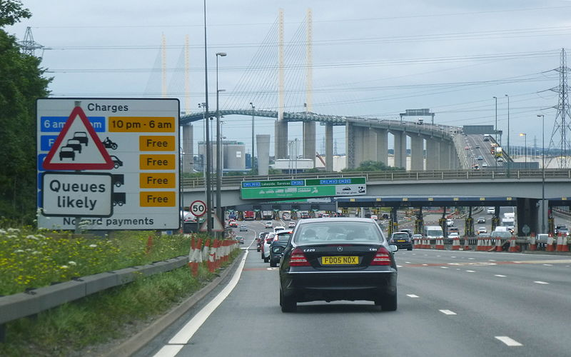 File:2014 Dartford Crossing approach from south.jpg