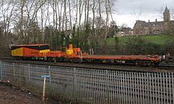 2014 Taunton track renewals - Colas crane match wagons 97417 and 97416.JPG