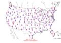 2015-10-12 Max-min Temperature Map NOAA.png