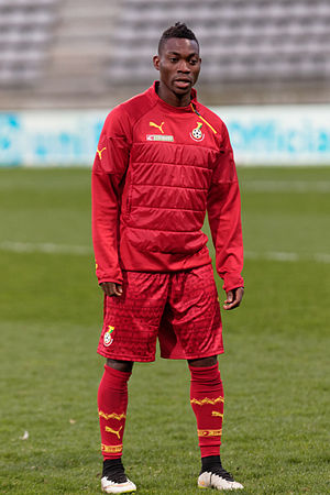Christian Atsu - Atsu playing for Ghana in March 2015
