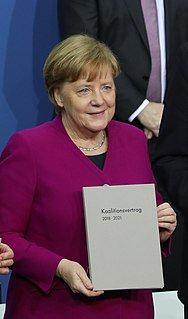 Fourth Merkel cabinet current German government