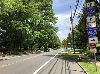 Rocky Hill, New Jersey - CR 518 at CR 605 in Rocky Hill