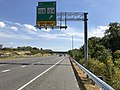 2019-09-23 14 26 02 View east along Maryland State Route 100 (Paul T. Pitcher Memorial Highway) at Exit 2 (Maryland State Route 108, Maryland State Route 104) on the edge of Columbia and Ellicott City in Howard County, Maryland.jpg