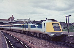 InterCity 125 - Class 252 in 1975 – The prototype HST, seen here at Weston-super-Mare
