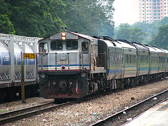 KTM Intercity - A KTM Intercity train at Kempas Bahru railway station