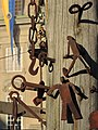 25 Jahre Gesellschaft zu Fraumünster - Mittelalter-Spectaculum - Schmitte-Nagelherstellung - Münsterhof 2014-05-24 19-43-11 (P7800).JPG