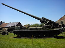 2S7 Pion SPG at Lubuskie Military Museum, Drzonów, Poland.jpg