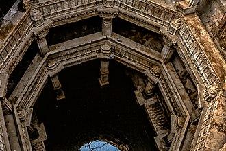 Adalaj Stepwell - The step well is five stories deep.