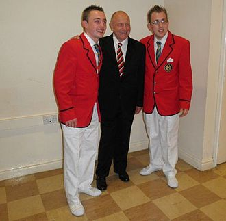 Butlins Redcoats - Redcoats with former England football player George Cohen, March 2011
