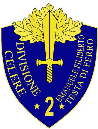 2nd Cavalry Division Emanuele Filiberto Testa di Ferro - 2a Cavalry Division Emanuele Filiberto Testa di Ferro Insignia