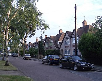 "Whitton, London - 1930s houses on ""Whitton Park"""
