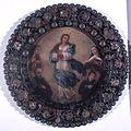 31027 Inmaculada concepción rodeada por santos Escudo de monja.jpg
