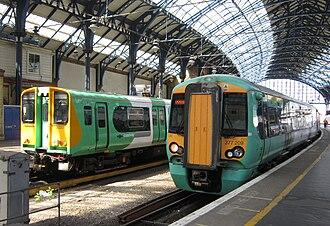 Southern (Govia Thameslink Railway) - Image: 313201 377209 Southern