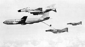 817th Air Division - A deployed KC-135A refuels F-4 Phantoms in Southeast Asia