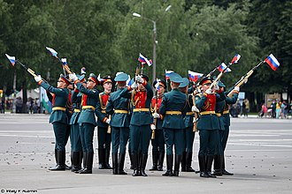 Exhibition drill - The drill team of 154th Preobrazhensky Independent Commandant's Regiment.