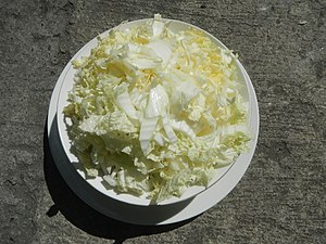 Sliced Napa cabbage