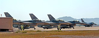 62d Fighter Squadron - Parking ramp of the 62d FS at Luke