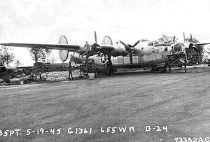 55th Space Weather Squadron - Image: 655th Bombardment Squadron B 24 Liberator