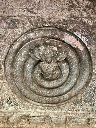 Nāga - 6th century Naga at Badami cave temples