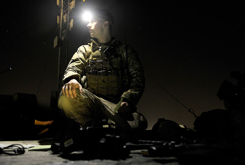 File:817th EASOS ROMAD night training at FOB Fenty.JPG