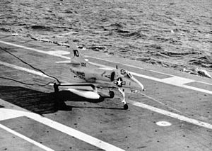 A-4B VMA-212 on USS Hornet (CVS-12) 1962.jpg