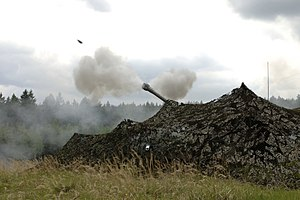 3rd Regiment Royal Horse Artillery - D Battery, 3rd Royal Horse Artillery firing an AS-90 on exercise in the Czech Republic, 12 May 2009.