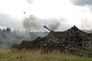 3rd Regiment Royal Horse Artillery - D Battery, 3rd Royal Horse Artillery firing an AS-90 on exercise in the Czech Republic, 12 May 2009.