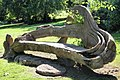 "A ""fallen tree"" bench built by Dionicio Rodriguez at the Cedar Hill Cemetery in Suitland, Maryland.jpg"