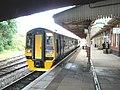 A Birmingham train stands at platform 1, Wrexham General - geograph.org.uk - 1409937.jpg
