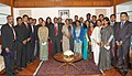 A Group of Probationers of the Indian Foreign Service (IFS), attending an Appreciation Course in Parliamentary Practices and Procedures at the BPST, calls on Speaker, Lok Sabha, Smt. Meira Kumar, at Parliament House.jpg