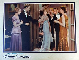 A Lady Surrenders - Lobby card