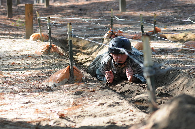 File:A Special Forces Assessment and Selection candidate conducts training at the Nasty Nick obstacle course Camp Mackall in Hoffman, N.C., September 2009 091009-A-GV060-075.jpg