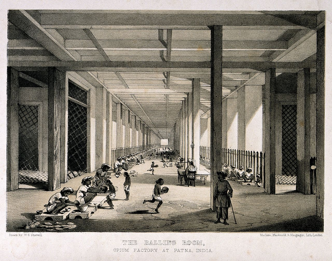 File:A busy balling room in the opium factory at Patna, India. Li Wellcome V0019155.jpg