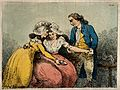 A surgeon bleeding the arm of a young woman; she is being co Wellcome V0016791.jpg