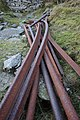 Abandoned Rails and Pipe, Caudale Quarry - geograph.org.uk - 693899.jpg